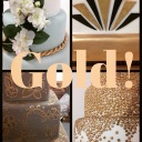 Gold Inspiration for Cakes
